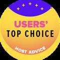 تمنح للشركات في قائمة أفضل 10 شركات استضافة مواقع بأعلى تقييم من المستخدمين.